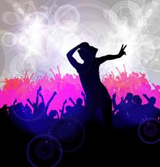 Music dance background. Vector