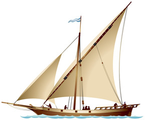Tartane sailing ship
