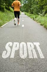 concept sport sur route de campagne