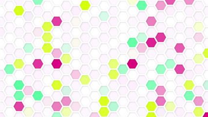 honeycomb mosaic loop background