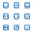 Business Glossy Icons Set