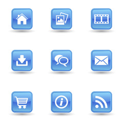 Web And Internet Glossy Icons Set
