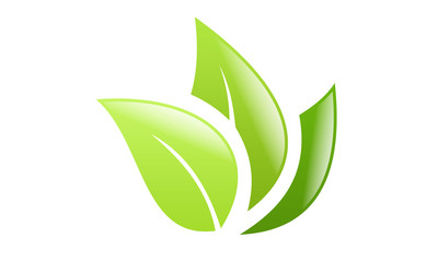three leaf vector logo