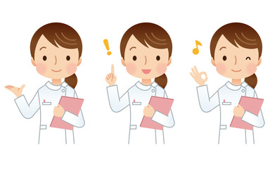 女性 看護師 介護士 表情