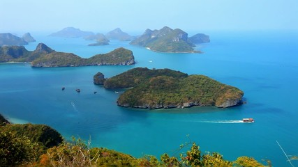 View from Mountain on Angtong marine park of  the islands