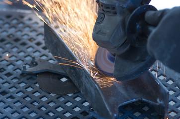 grinder and sparks