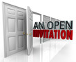 An Open Invitation Words Business Door Welcoming Customers Visit
