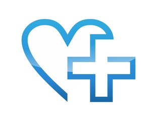 icon symbol logo medicine health care cross plus heart