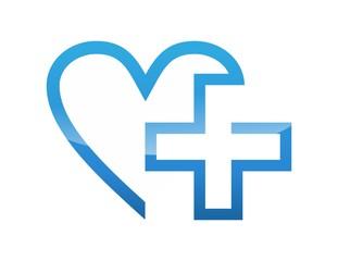 icon symbol logo medicine health care cross plus heart