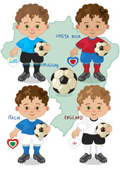 mascotte mondiali 2014 - gruppo D