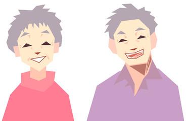 笑顔のシニア