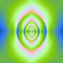 Green Pink and Blue Labyrinth Tunnel
