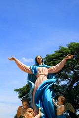 Statues of Holy Women at saint joseph catholic church