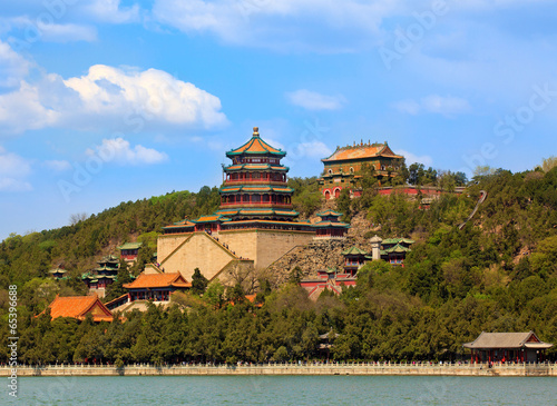 Foto op Canvas Beijing The Summer Palace in Beijing, China