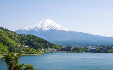 Mount Fuji with Kawaguchiko lake