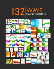 Mega collection of wave abstract backgrounds
