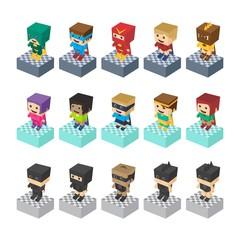 hero character set