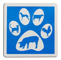 empreintes de pas et silhouettes d'animaux