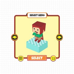 hero character option game assets element