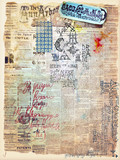 Collage of old mysterious papers and maps series poster