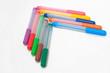 arrow of fel-tip pens