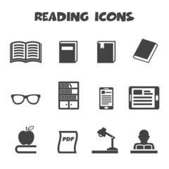 reading icons