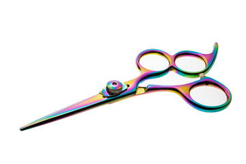 Professional haircutting scissors isolated, with clipping path.
