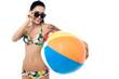 Attractive woman in swim wear