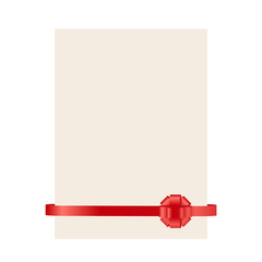 vector red ribbon