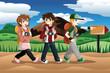 Children going on an adventure