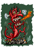 Fury Dragon is destroying city poster