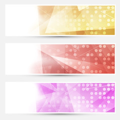 Abstract crystal dotted cards collection