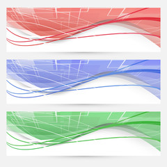 Bright swoosh lines geometrical web elements