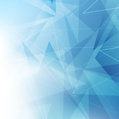Triangular blue geometrical background