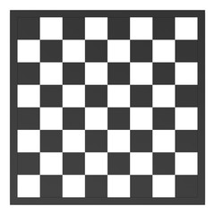 chess board in black and white.
