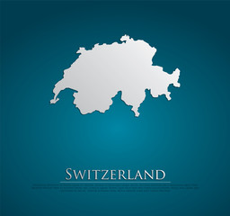 vector Switzerland Map card paper