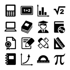 Mathematics Icons Set