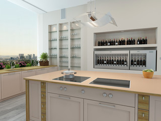 Modern new kitchen interior