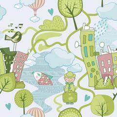 Cute Landscape Pattern