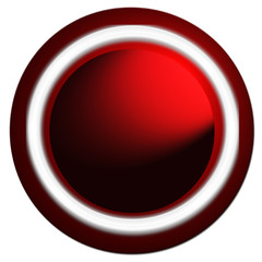 Bouton web vierge rond, dominante rouge