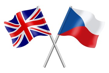 Flags: United Kingdom and Czech Republic
