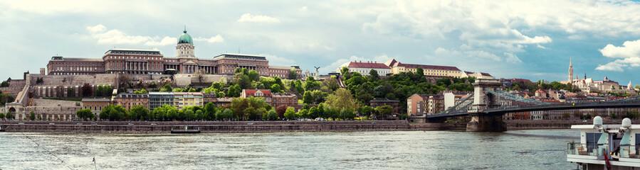 Panorama of Buda Castle. Budapest, Hungary
