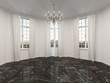 Empty room with a marble floor