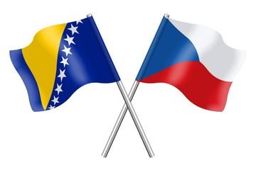 Flags: Bosnia-Herzegovina and Czech Republic