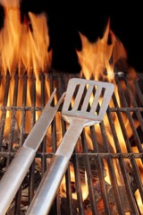 BBQ Grill and Tools