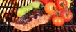 Grilled Ribs with Bell Pepper and tomato