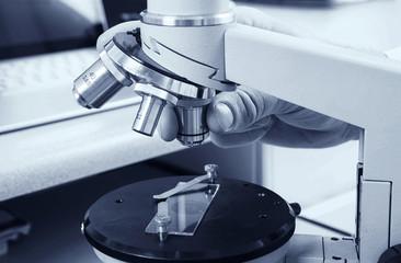 Microscope. Laboratory concept.