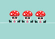 3 Fly Agarics Sunglasses Gifts Retro