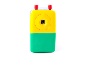 Mechanical pencil sharpener Rotate with hand blue yellow green I