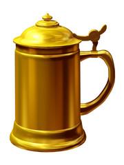 Beer stein in gold